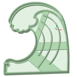 STL Wave of sea cookie cutter, osval74