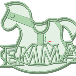 STL file Emma cookie cutter, osval74