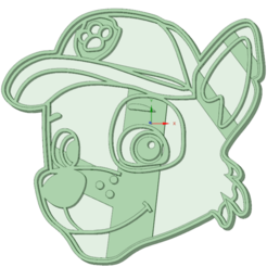 3D printing model Rocky Paw Patrol cookie cutter, osval74