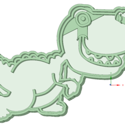 Download STL files Dino 2 cookie cutter, osval74