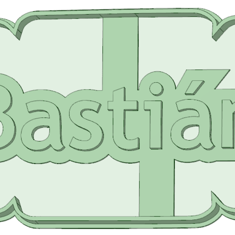 3D printing model Bastian cookie cutter, osval74