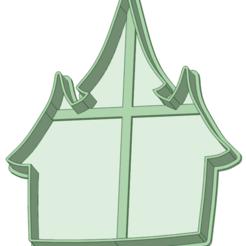 Casa embrujada_e.png Descargar archivo STL Casa embrujada contorno cookie cutter • Diseño imprimible en 3D, osval74