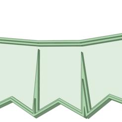 Banderin x 5_e.png Télécharger fichier STL Fanion pour le coupeur de lettres x5 • Objet imprimable en 3D, osval74