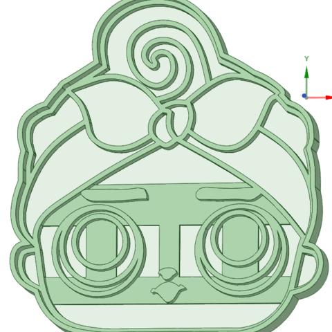 3D print model L.O.L face 2 cookie cutter, osval74