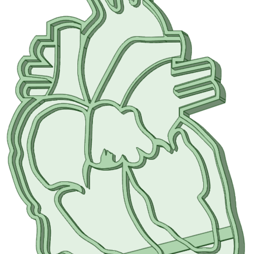 Download 3D printing models Heart half cookie cutter, osval74