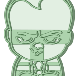 Download 3D printing templates Head in diapers cookie cutter, osval74