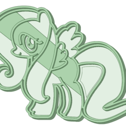 STL files My Little pony 5 cookie cutter, osval74