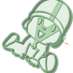STL Pocoyo cookie cutter, osval74