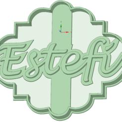 Descargar archivo 3D Estefi cookie cutter, osval74