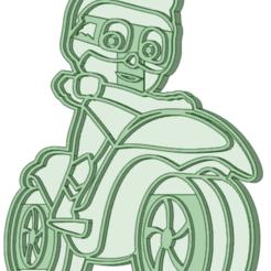 6_e.png Télécharger fichier STL Garçon-chat avec un emporte-pièce de moto • Objet pour imprimante 3D, osval74