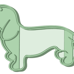 Salchicha_e.png Download STL file Dachshund Cookie Cutter • 3D printer template, osval74