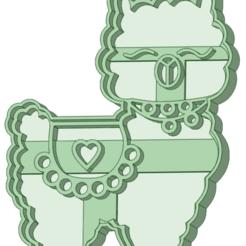 Llama 6_e.png Télécharger fichier STL Appelez 6 biscuits à l'emporte-pièce • Plan pour impression 3D, osval74