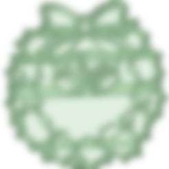 Descargar STL Adorno corona navidad cookie cutter, osval74