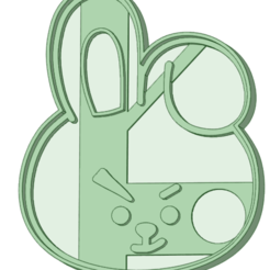 Cooky.png Download STL file Cooky BT21 cookie cutter • Object to 3D print, osval74