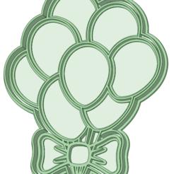 Globos_e.png Télécharger fichier STL Ballons avec nœud d'emporte-pièce • Plan pour imprimante 3D, osval74