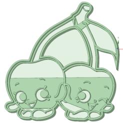 STL files Cherries Shopskins cookie cutter, osval74