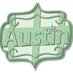 3D print model Austin cookie cutter, osval74