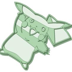 Descargar archivo 3D Pikachu cookie cooter, osval74
