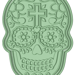 Skull 2_e.png Download STL file Skull Mexican cookie cutter • 3D print design, osval74