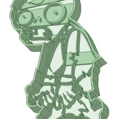 Descargar modelos 3D Zombie entero cookie cutter, osval74