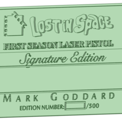 Plaque_e.png Download STL file Lost in Space plaque • Design to 3D print, osval74