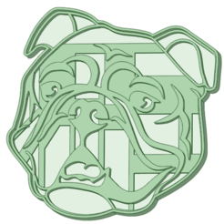 Bulldog ingles_e.png Download STL file English Bulldog cookie cutter • 3D print model, osval74