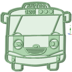 3_e.png Download STL file Tayo little Bus 3 cookie cutter • 3D printable template, osval74
