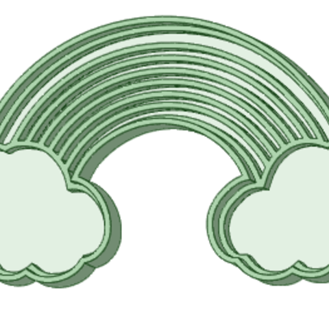 Download 3D printer templates ArcoIris with cookie cutter clouds, osval74