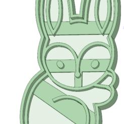 3D print files Rabbit 1 cookie cutter, osval74