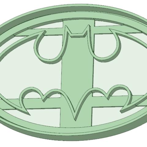 Download 3D printing designs Batman logo cookie cutter, osval74