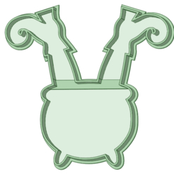 Bruja en el caldero _e.png Download STL file Witch cauldron cookie cutter • 3D print model, osval74