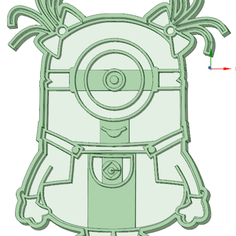 3D printing model Minion nenan cookie cutter, osval74
