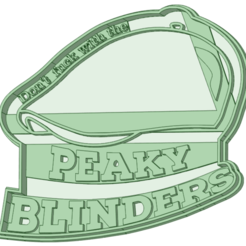 4_e.png Download STL file Peaky Blinders 4 cookie cutter • 3D printing model, osval74