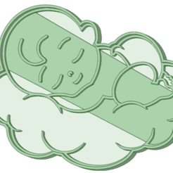 Descargar archivo 3D Bebe baby shower cookie cutter, osval74