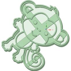 Descargar modelos 3D Mono cookie cutter, osval74