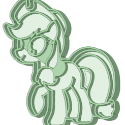 STL file My Little pony 6 cookie cutter, osval74
