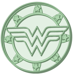 STL file Wonder Woman coat of arms cookie cutter, osval74