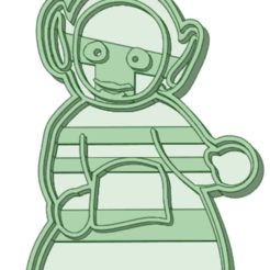 2_e.png Download STL file Teletubbies 2 whole cookie cutter • 3D printing model, osval74