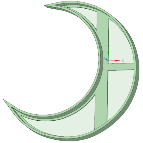 Diseños 3D Media Luna cookie cutter, osval74