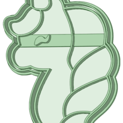 Unicornio 12_e.png Download STL file Unicorn 12 cookie cutter • 3D printer design, osval74