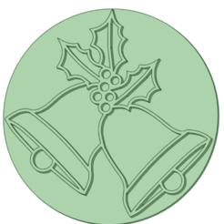 Campanas_e.png Download STL file Stamp Christmas bells 6cm • 3D printing design, osval74
