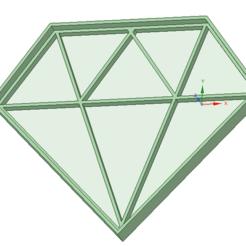 3D print model Diamond cookie cutter, osval74