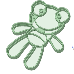 3D print files Sapo Pepe cookie cutter, osval74