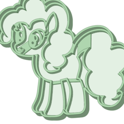 Download 3D printing templates My Little pony 3 cookie cutter, osval74