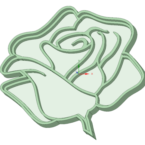 Télécharger plan imprimante 3D Rose 3 emporte-pièce à l'emporte-pièce, osval74