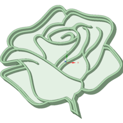 Download STL file Rose 3 cookie cutter, osval74
