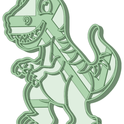 Dino 11_E.png Download STL file Dinosaurio 11 cookie cutter • Model to 3D print, osval74