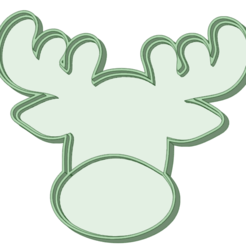Download STL file Christmas reindeer with cookie cutter outline, osval74