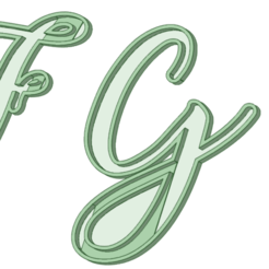 STL file EFGH italic uppercase cookie cutter, osval74