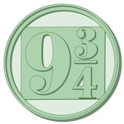 934_e.png Télécharger fichier STL 9 3/4 Harry potter moule à biscuits • Objet imprimable en 3D, osval74